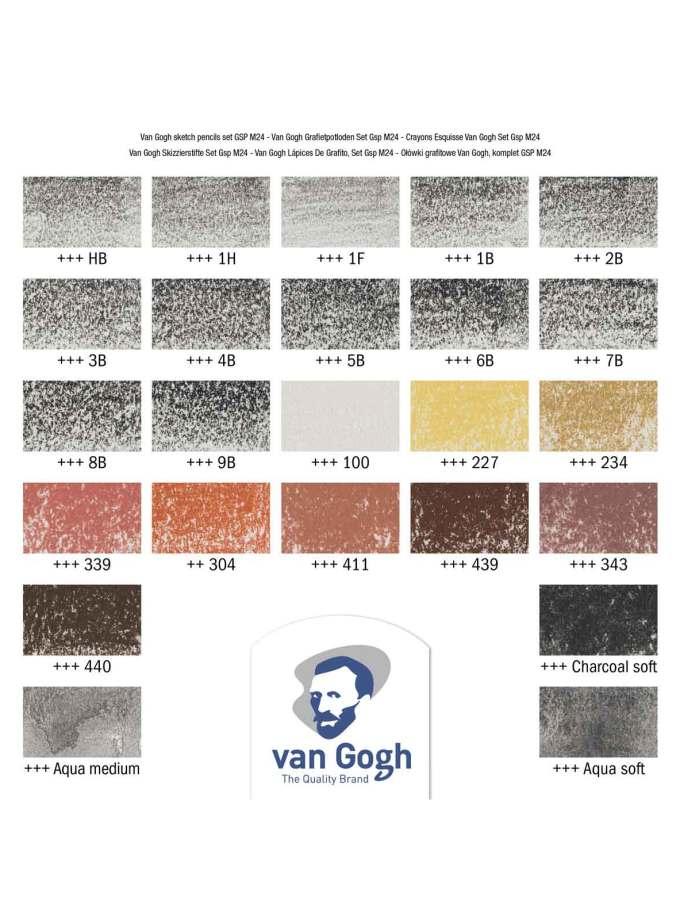 set-24-moluvia-sxediou-graphite-sketching-vangogh-Talens-Art&Colour-colorcard