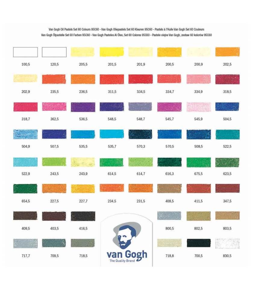 set-60-oil-pastel-VanGogh-Talens-Art&Colour-colorcard