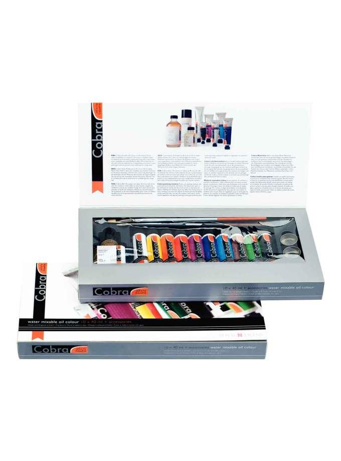 set-10x40ml-Gift-Pack-cobra-artist-oil-Ladoxroma-Nerou-Talens-Art&Colour
