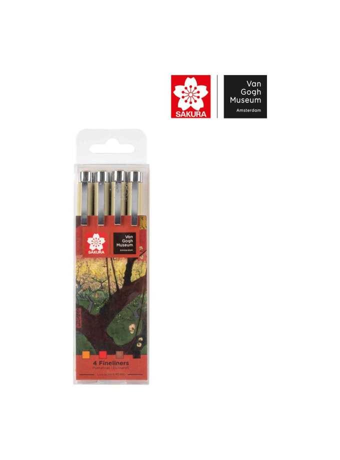 set-4-markadorakia-pigma-micron-fineliners-VanGogh-Museum-Sakura-Art&Colour-2