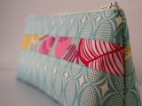 Cosmetic Makeup Bag - Bluesie - Handmade