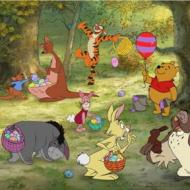 Winnie the Pooh Easter Coloring Pages!