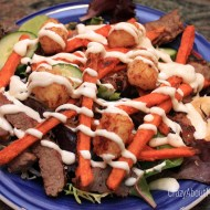 Ore-Ida Sweet Potato Fries by Heinz: Pittsburgh Salad with a Twist #OreIdaFries