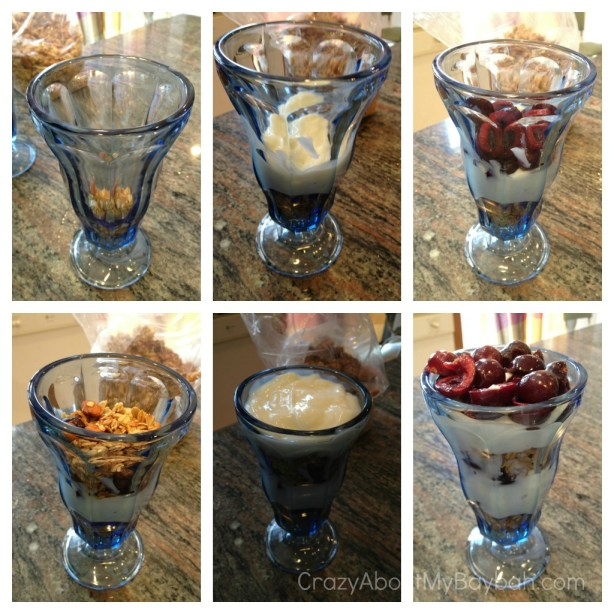 Quick and Easy breakfast Cherry Parfait
