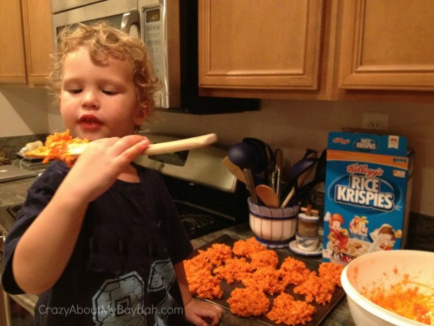 Rice Krispies Surprise Pumpkin Treats