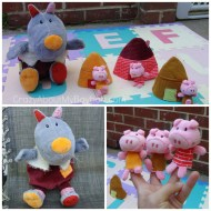 HABA Lilliputiens Adorable Wolf Hand Puppet and Three Little Pigs