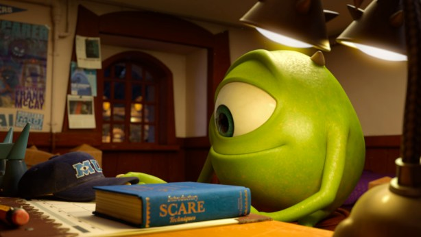 Mike Studying- Monsters University Review #MonstersUPremiere