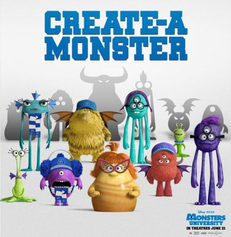 Create your own Monsters University Monster! #MonstersUPremiere