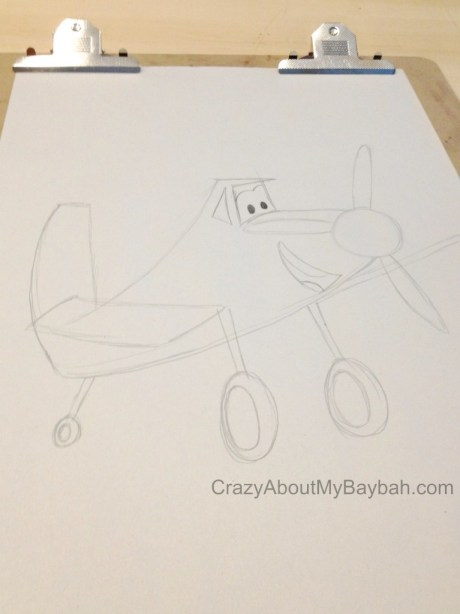 Drawing of Dusty from Planes #DisneyPlanesEvent