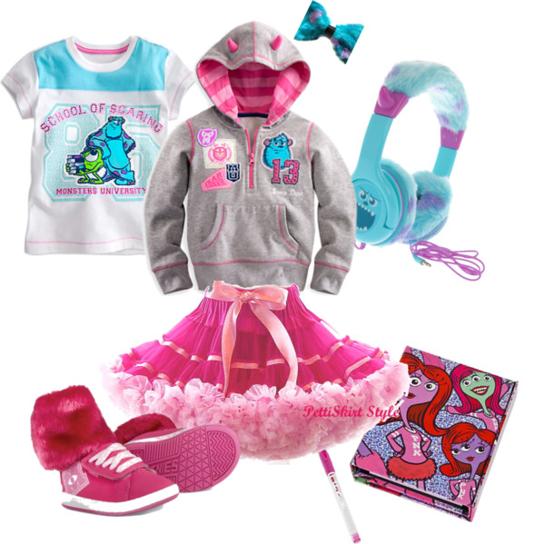 Monsters University Back to School Clothes for Girls #MonstersUPremiere