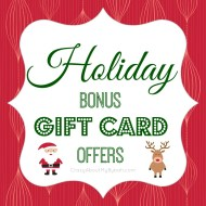 List of Holiday Bonus Gift Cards 2013