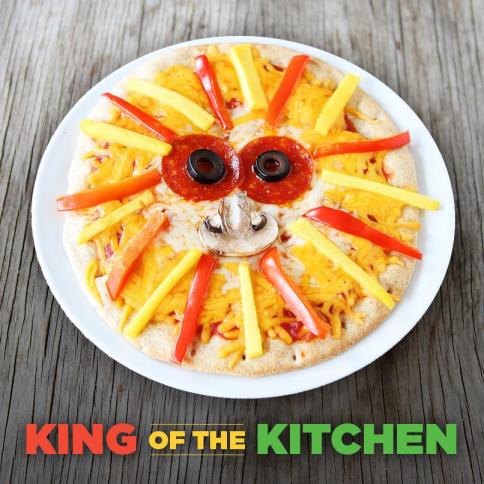 Lion Pizza Made with Mangos