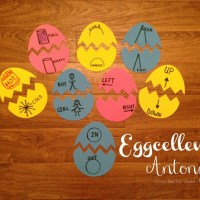 Eggcellent Antonyms Sight Word Game