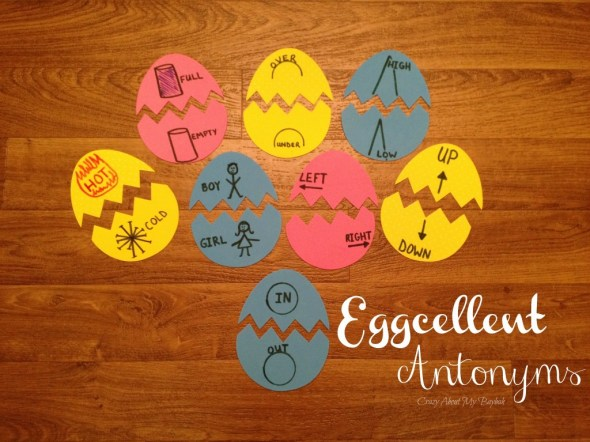 Eggcellent Antonym Sight Word Game
