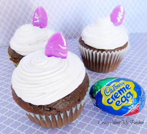 Cadbury Egg Filled Cupcakes Recipe