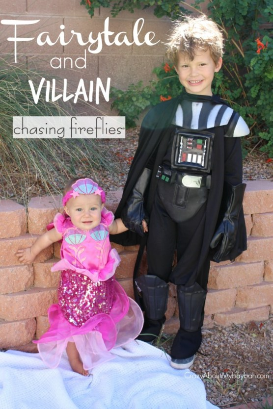 Fairytale and Villain Chasing Fireflies Halloween Costumes