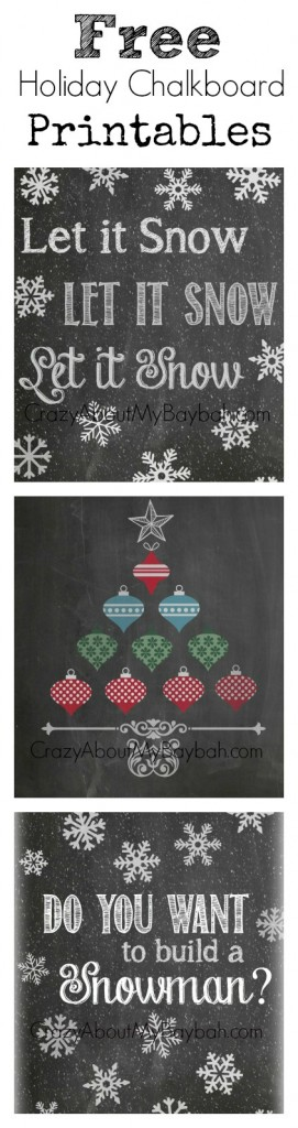 Free Winter Chalkboard Printables
