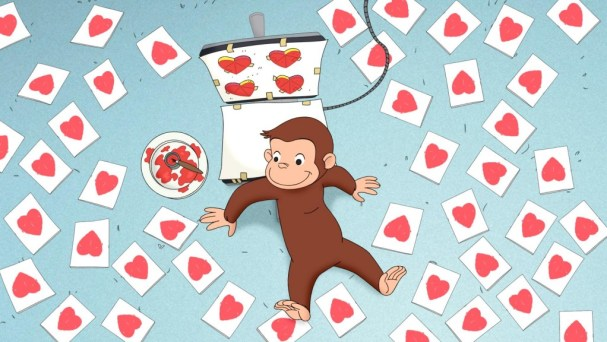 Curious George Valentine's Day Craft