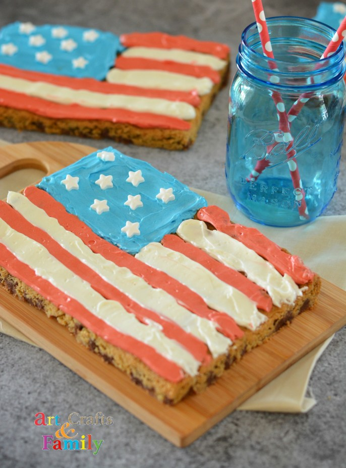 4th of July Recipe | American Flag Cookie Bars