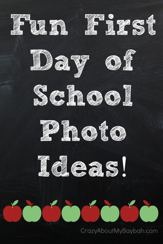 Fun and Unique First Day of School Photo Ideas #BTS #BacktoSchool