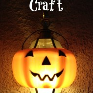 Easy Halloween Craft | Pumpkin Light