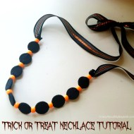Trick or Treat Halloween Necklace Craft Tutorial