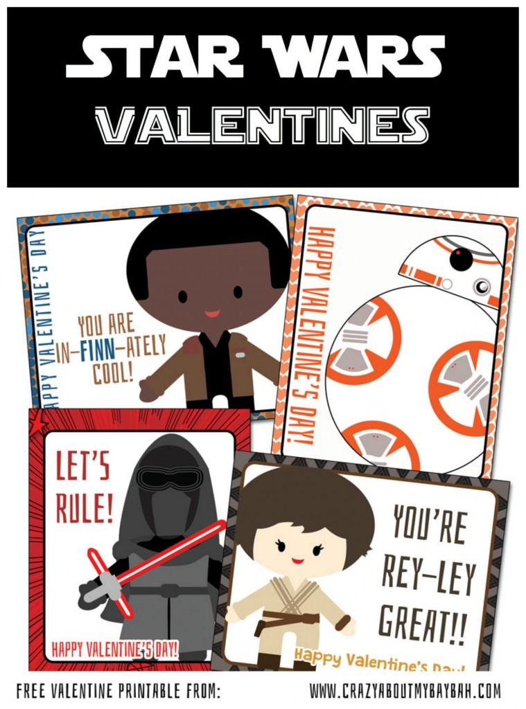 picture about Printable Star Wars Valentine identified as The Tension Awakens Encouraged Absolutely free Printable Star Wars Valentines