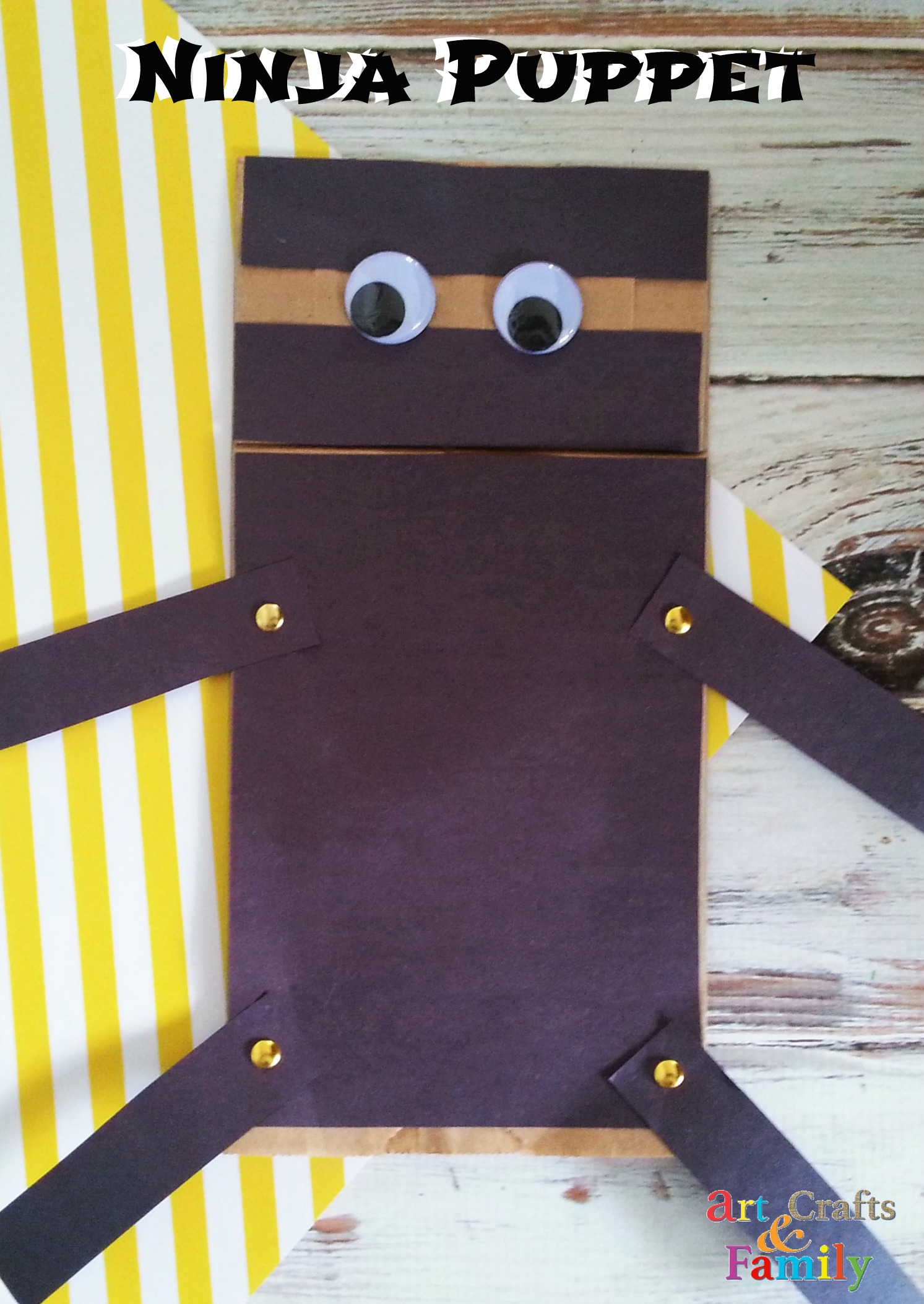 Paper Bag Ninja Puppet Tutorial