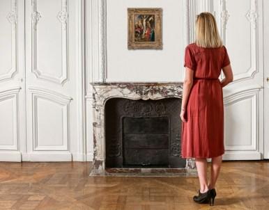 """Ecole flamande du XVIIe siècle Atelier de Pierre-Paul Rubens La Crucifixion, dit """" Le coup de lance """" Huile sur panneau de chêne, un..."""
