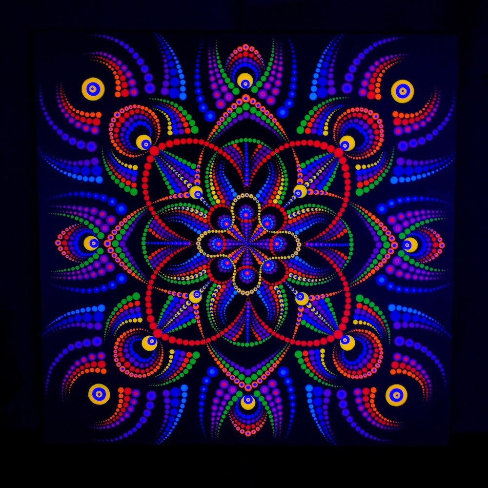 Portal Of Angels UV Dot Painting