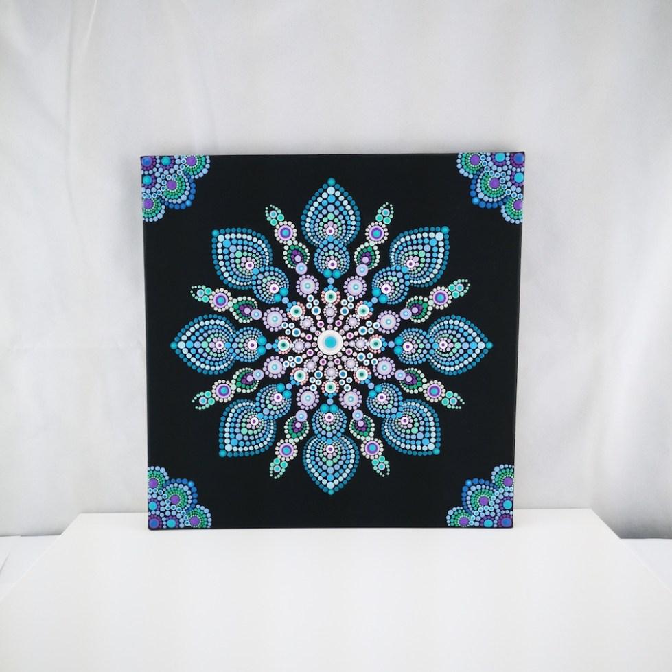 Snowflake Dot Mandala Maleri