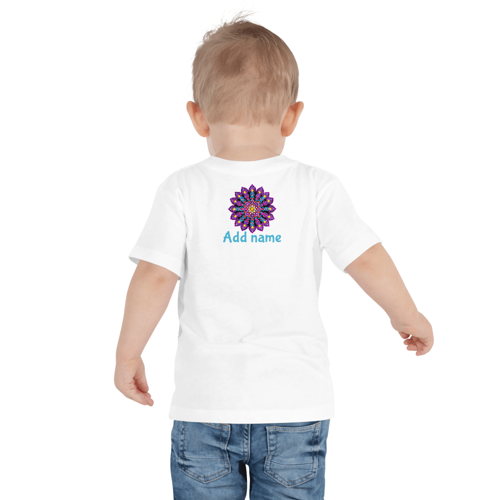 Purple Dot Mandala Toddler Short Sleeve Tee