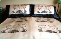 Double Duvet Set With 4 Matching Pillowcases Blue 200cm X ...