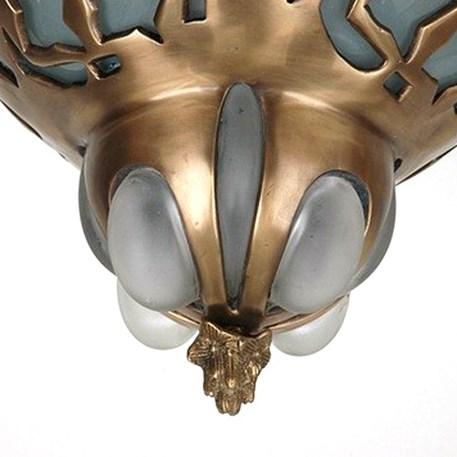 Jugendstil Deckenleuchte  43cm Bronze Unica