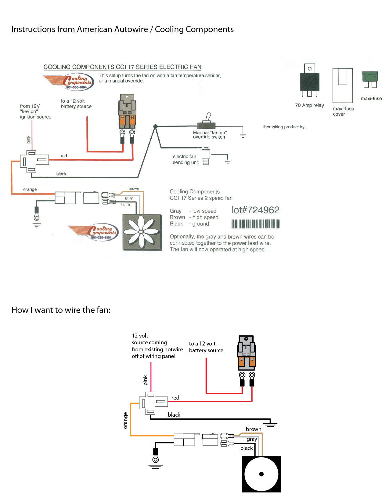 elec fan wiring diagram getting things done workflow pdf a cooling components in already wired car