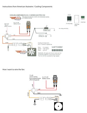 Wiring a Cooling Components Fan in a already wired car | The HAMB