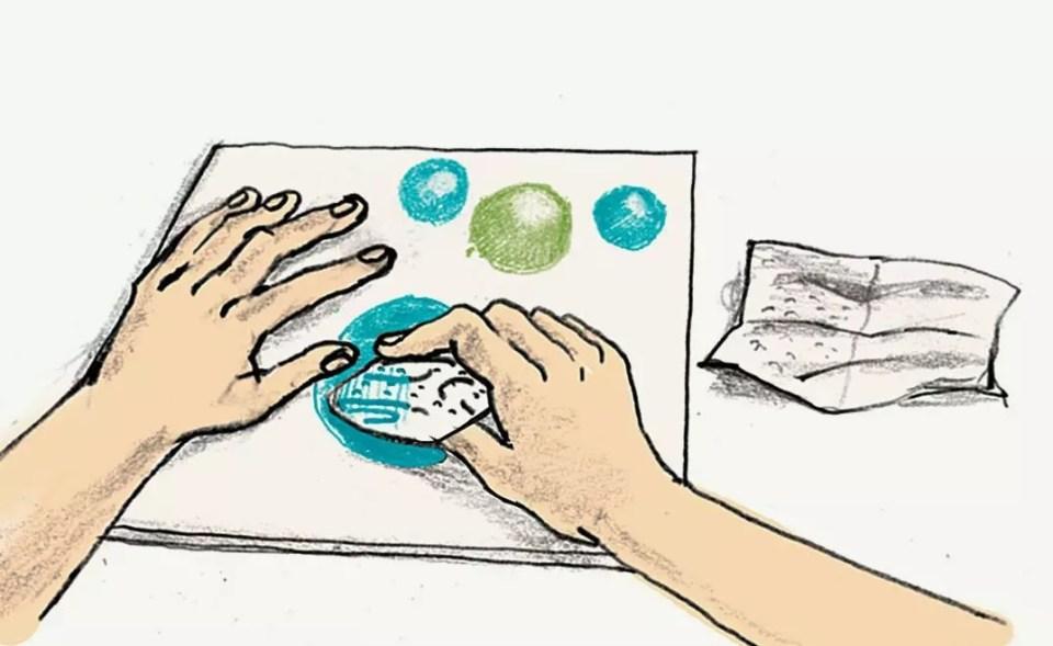 dabbing watercolor