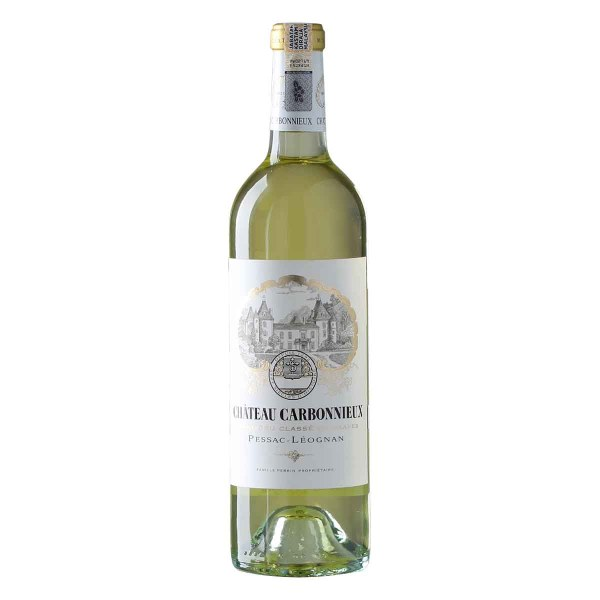Chateau Carbonnieux Blanc from Pessac Leognan. 80% Sauvignon, 20% Semillon. The colour is pale yellow, delicate and expressive on nose, lemon freshness, slight vanilla hints of the oak harmoniously accompanies the floral character.
