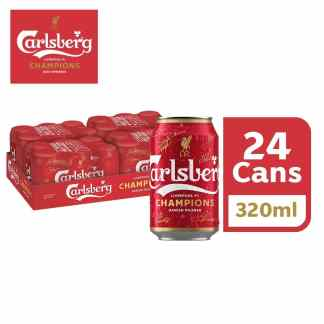 Carlsberg GL Liverpool FC Champions Limited Edition (24 cans x 320ml) Liverpool FC are the Premier League Champions! As the official beer, #CarlsbergMY celebrates with Liverpool FC Fans by going all RED with Limited Edition Champions bottles and cans!