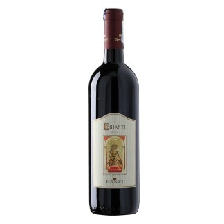 Banfi Chianti DOCG red wine from Italy. Intense with notes of cherries, plums, and violets. Rich flavors of cherry and leather. Supple tannins and good acidity.