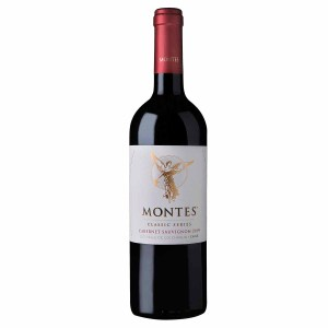 Montes Classic Cabernet Sauvignon. An intense ruby-red colour, this Cabernet Sauvignon shows itself to be fruity and fresh, with a broad range of red berry aromas, and sweet notes of pastry and candy, as well as interesting notes of tobacco and vanilla thanks to the 8 months' ageing in French oak. On the palate the wine is balanced, with medium body and smooth tannins; fruit flavours are well entwined with toast from the oak, leaving a lingering sensation that is smooth and pleasing