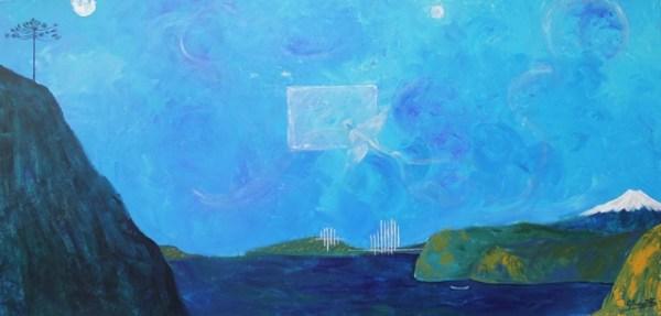 CBusquets, Espiritu Azul, tmixta tela 80 x 160 cms