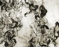 Lara Monica Costa, Aequilibrium - Ciclo II, 2013, incisione calcografica mista, vernice molle, puntasecca su rame, stampata su carta, cm 50x70