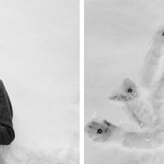 Gian Luca Groppi, Tribute to Ian Curtis (dittico), 2015, stampa b/n su carta baritata, 2 fotografie con passpartout e cornice, cm 50x50 cad., ed. 5 + 1 P. A.