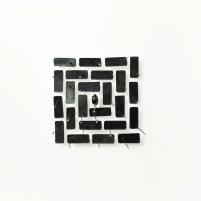 Classificazione immateriale - labirinto, 2016, cm 20x20x6,mixed media