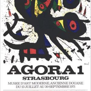 Joan Miro, poster Lithograph, Agora 1, 1971