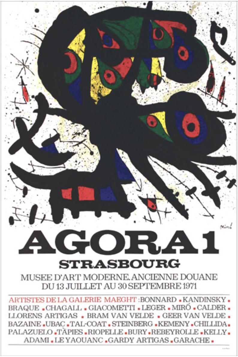 Miro poster Lithograph Agora 1, 1971