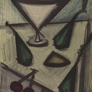 Bernard Buffet, Still life with fruits, original Lithograph 1968