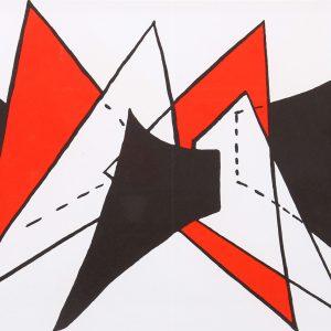 Calder Original Lithograph, DM25141d, Derriere le Miroir 1963