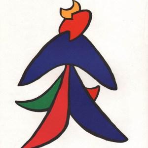 Calder Lithograph, DM04141, Derriere le Miroir 1963